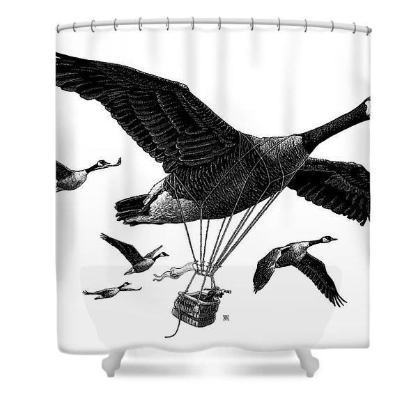 Aero Canada - Bw Shower Curtain