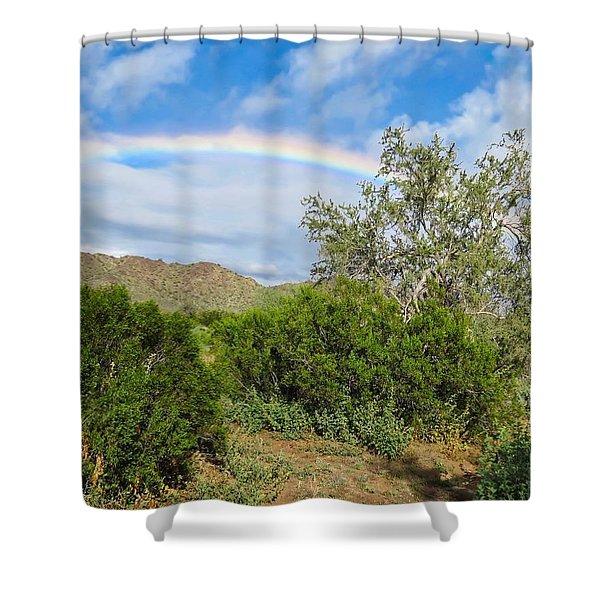 After An Arizona Winter Rain Shower Curtain