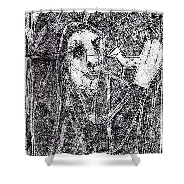 After Childish Edgeworth Pencil Drawing 10 Shower Curtain