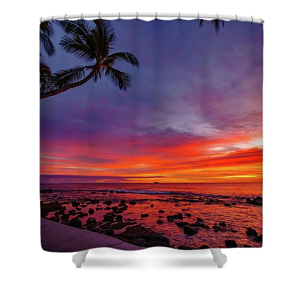 After Sunset Vibrance Shower Curtain
