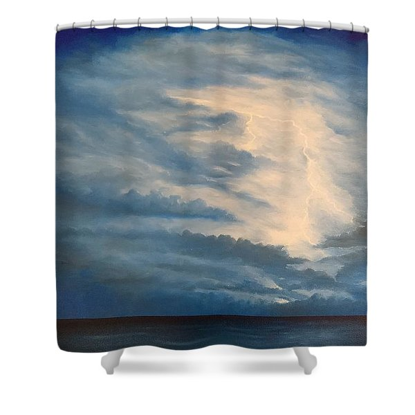Shower Curtain featuring the painting After The Storm by Kevin Daly