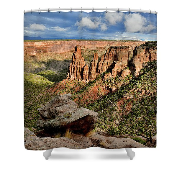 After The Storm Light On Colorado National Monument Shower Curtain