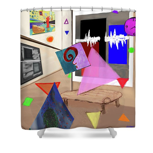 Afternoon At The Museum Shower Curtain