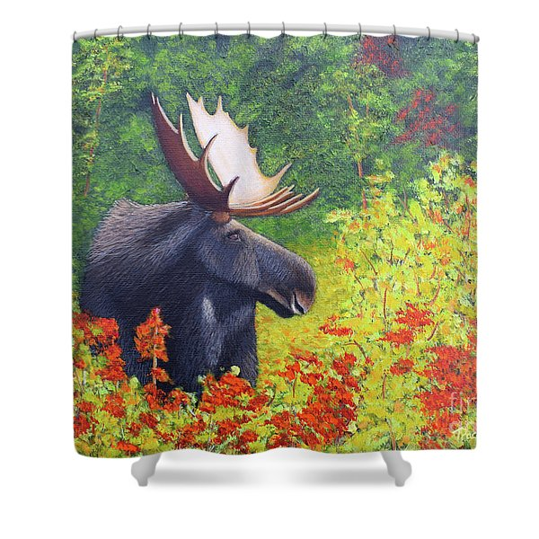 Shower Curtain featuring the painting Afternoon Munch by Tracey Goodwin