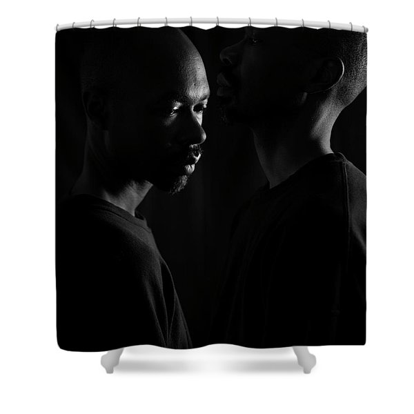 Against The Wall Shower Curtain