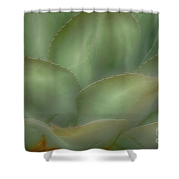 Agave Softened Shower Curtain