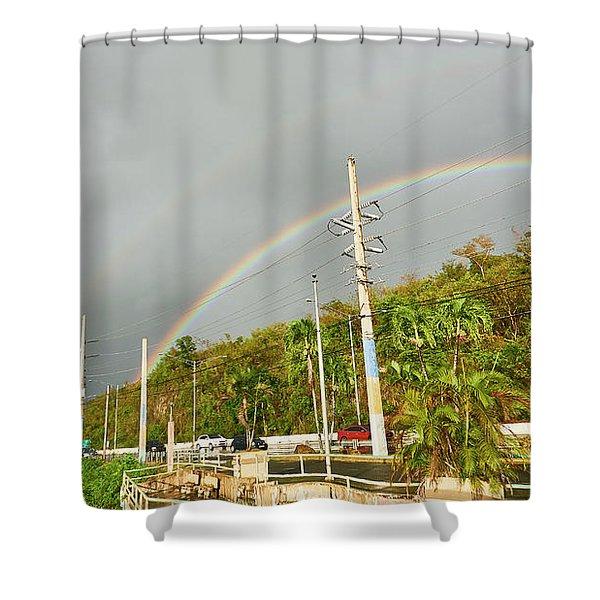 Aguadilla Rainbow Shower Curtain