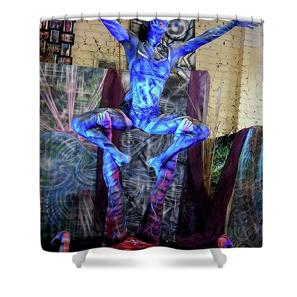 Aien Crane Shower Curtain
