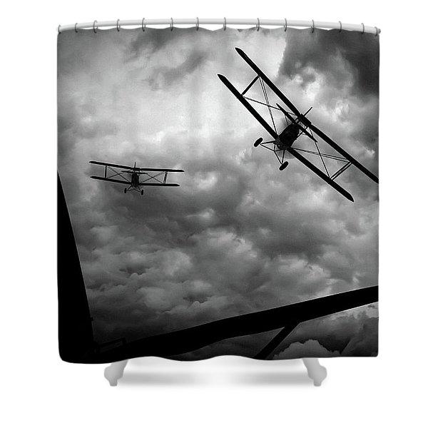 Air Pursuit Shower Curtain