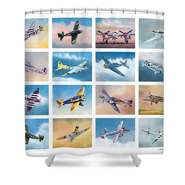 Airplane Poster Shower Curtain