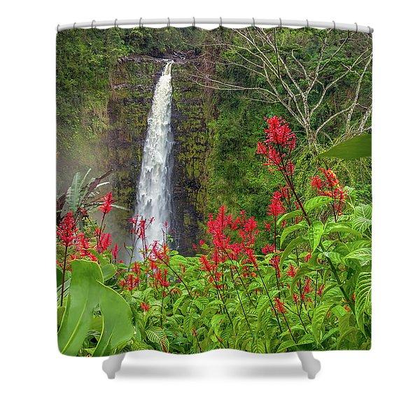 Akaka In Red Shower Curtain