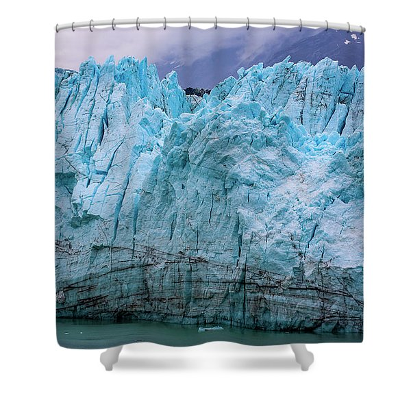 Alaskan Blue Glacier Ice Shower Curtain