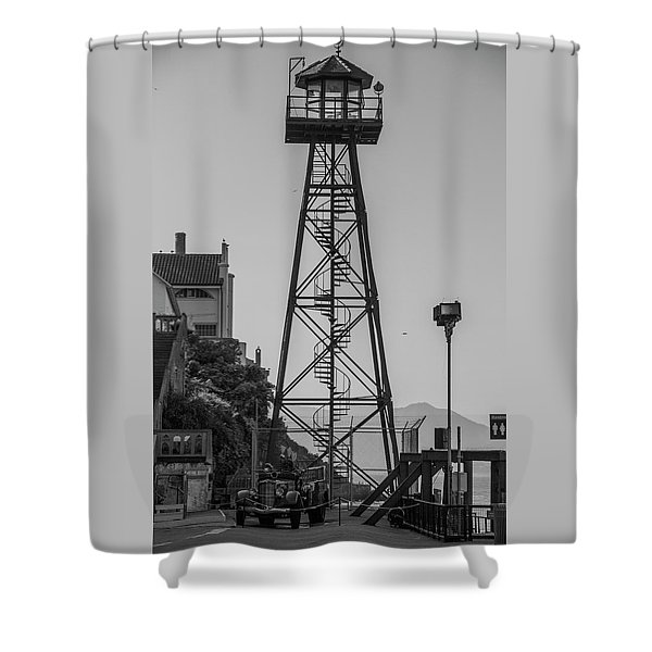 Alcatraz Light House Shower Curtain