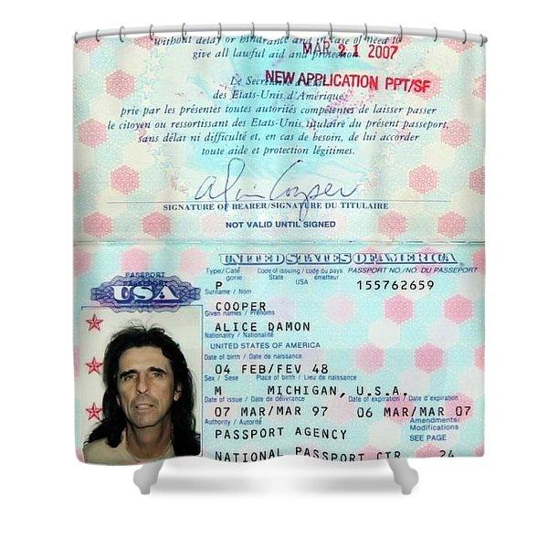 Alice Cooper Passport 1997 Shower Curtain