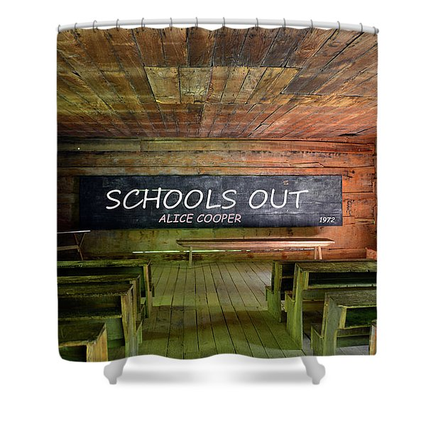 Alice Coopers Schools Out 1972 Shower Curtain