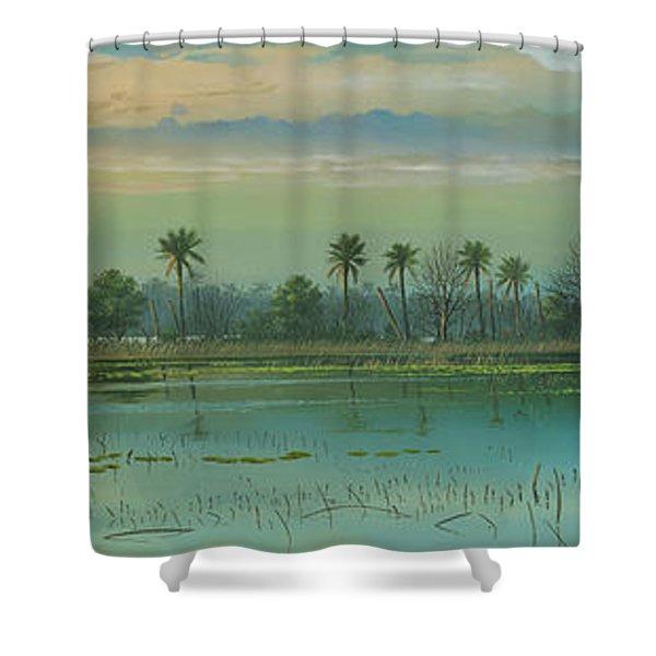Alligator Alley Shower Curtain
