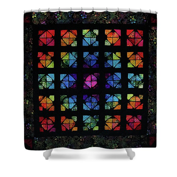 All The Colors Shower Curtain