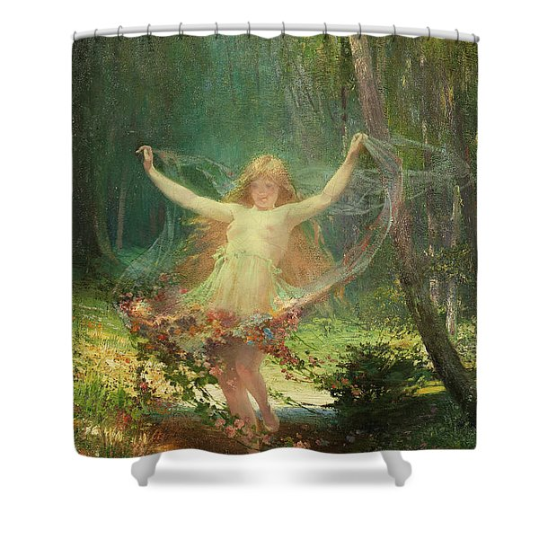 Allegory Of Spring Shower Curtain
