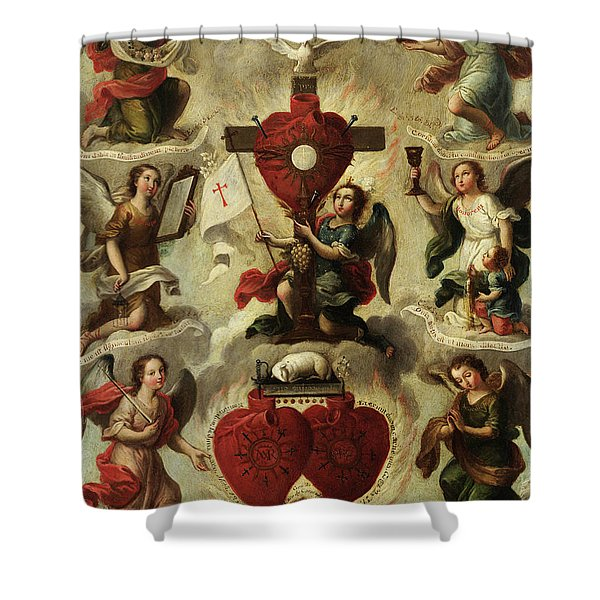 Allegory Of The Holy Eucharist Shower Curtain