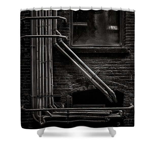 Alleyway Pipes No 2 Shower Curtain