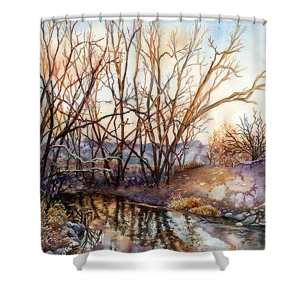 Along Boulder Creek Shower Curtain