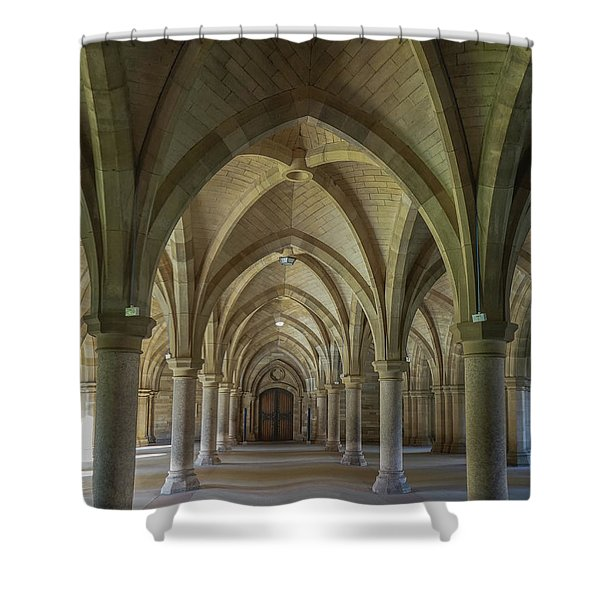 Along The Cloisters Shower Curtain