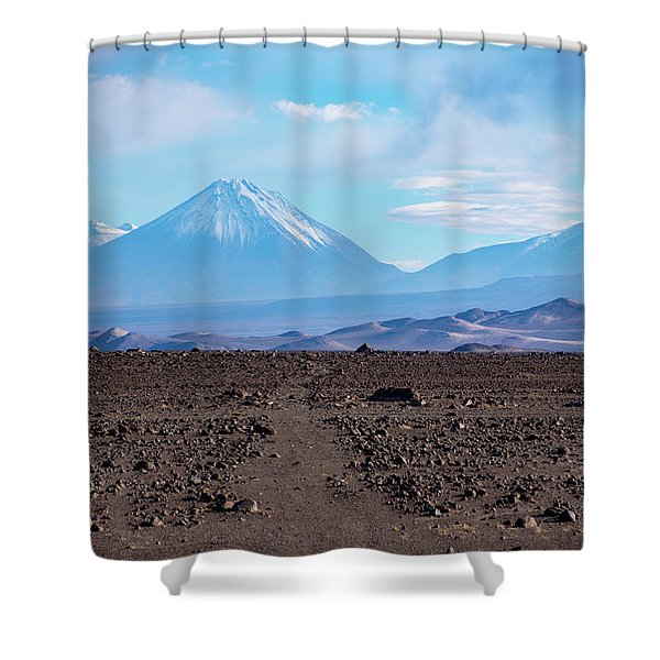 Along The Inca Trail In The Atacama Desert Shower Curtain