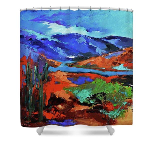 Along The Trail - Arizona Shower Curtain