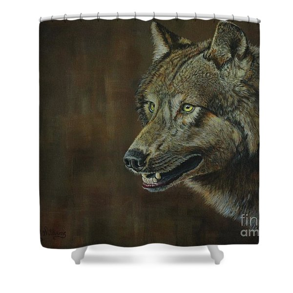 Alpha Male ......the Gray Wolf Shower Curtain