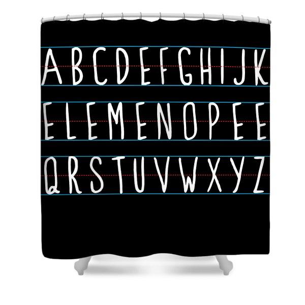 Alphabet Elemeno Shower Curtain