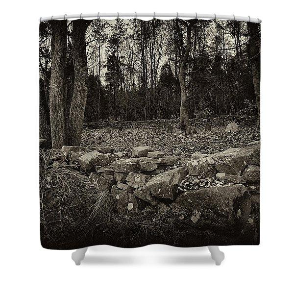 Alpine Benders Cemetery Shower Curtain