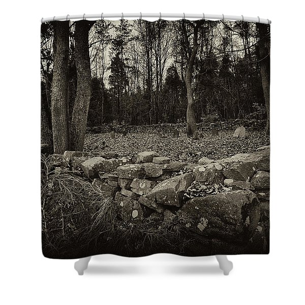 Alpine Benders Cemetery Shower Curtain