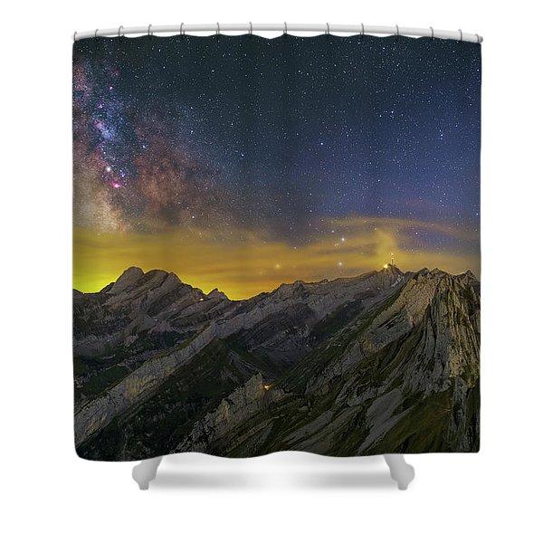 Alpstein Nights Shower Curtain