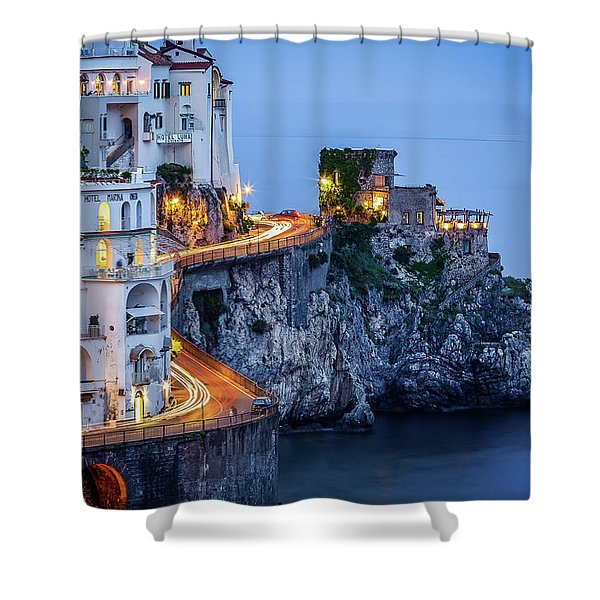 Amalfi Coast Italy Nightlife Shower Curtain