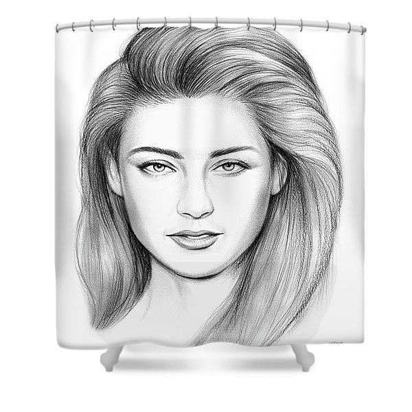 Amber Heard Shower Curtain