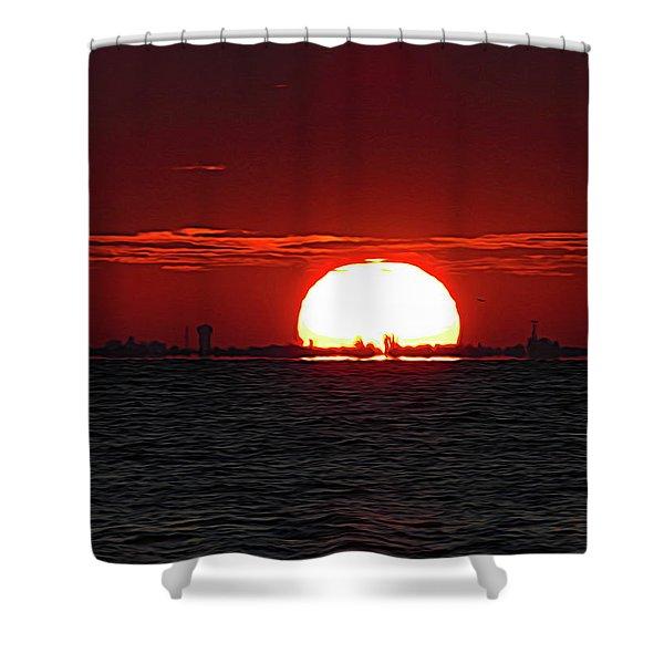 Amber Sky Shower Curtain