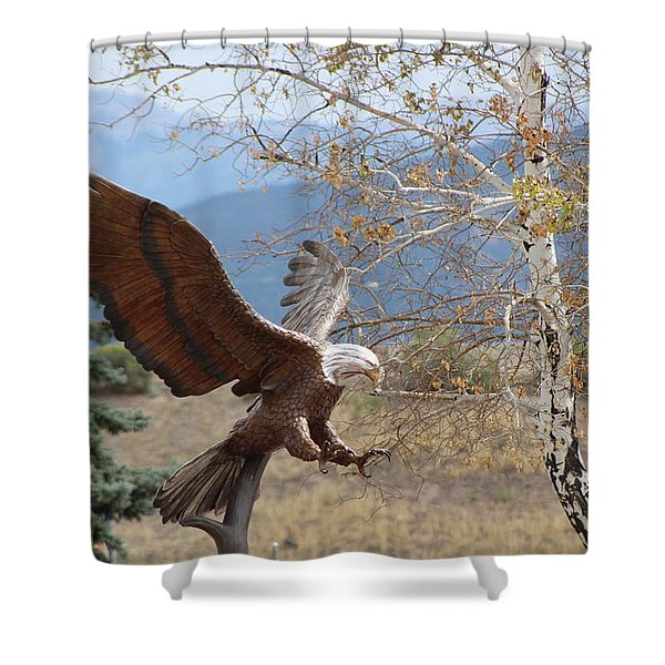 American Eagle In Autumn Shower Curtain