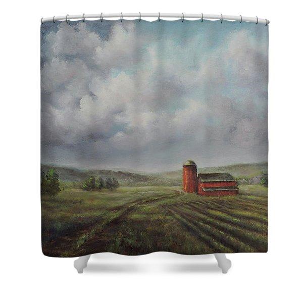 American Scene Red Barn  Shower Curtain