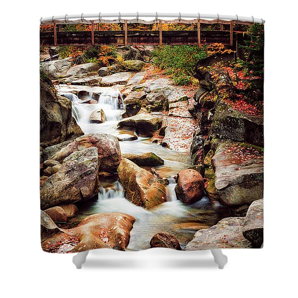 Shower Curtain featuring the photograph Ammonoosuc River, Autumn by Jeff Sinon