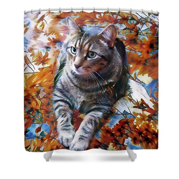 Amos In Flowers Shower Curtain