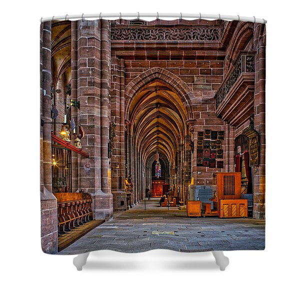 Shower Curtain featuring the photograph Amped Up Arches by Tom Gresham