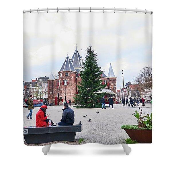 Amsterdam Christmas Shower Curtain