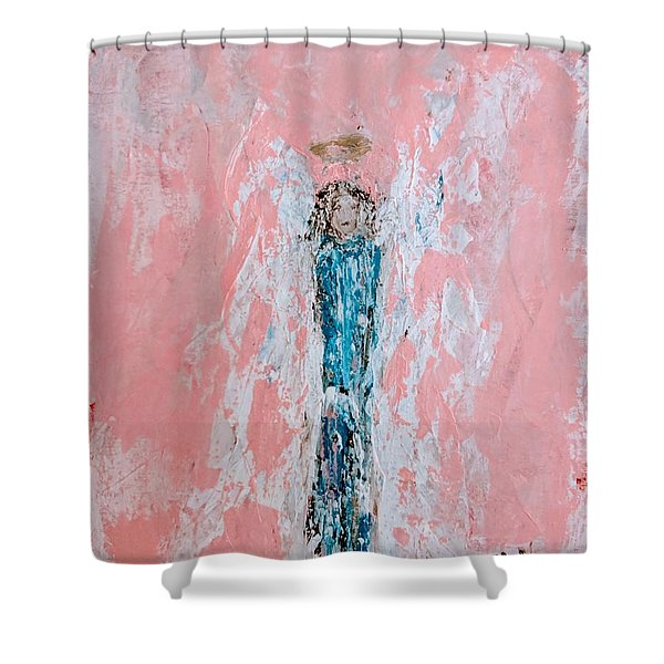 Amy's Angel Shower Curtain