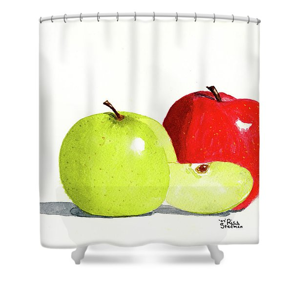 An Apple A Day Shower Curtain