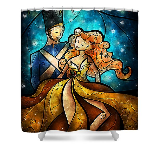 An Enchanted Evening Shower Curtain