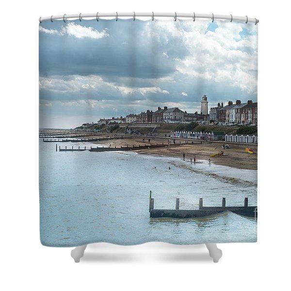 An English Beach Shower Curtain