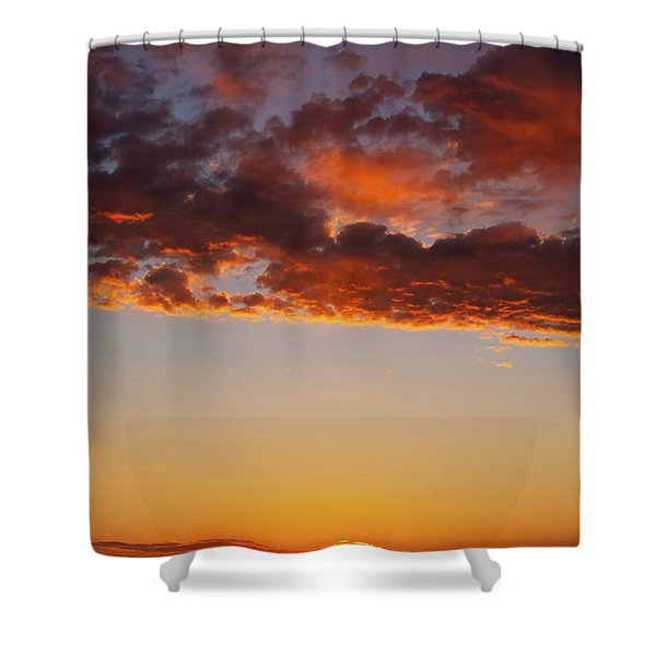 An Oklahoma Sunsrise Shower Curtain