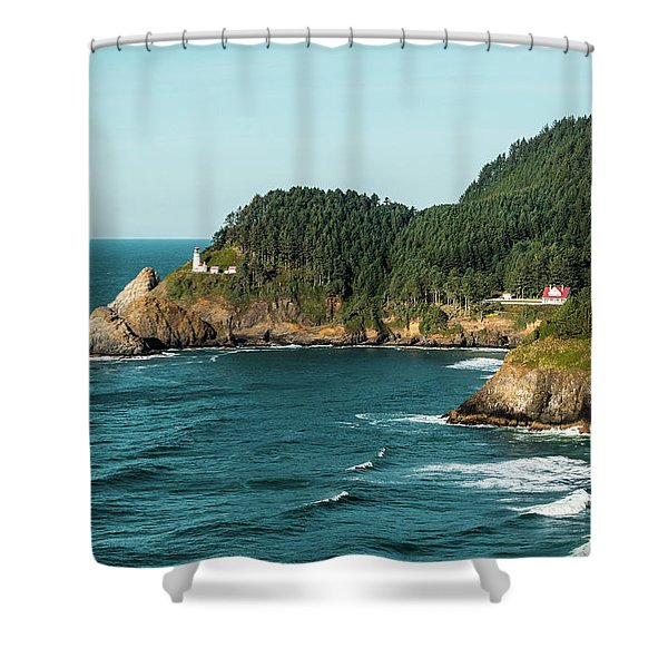An Oregon Lighthouse Shower Curtain