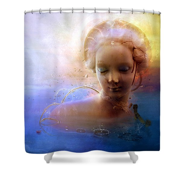 Anachronic Circles Shower Curtain