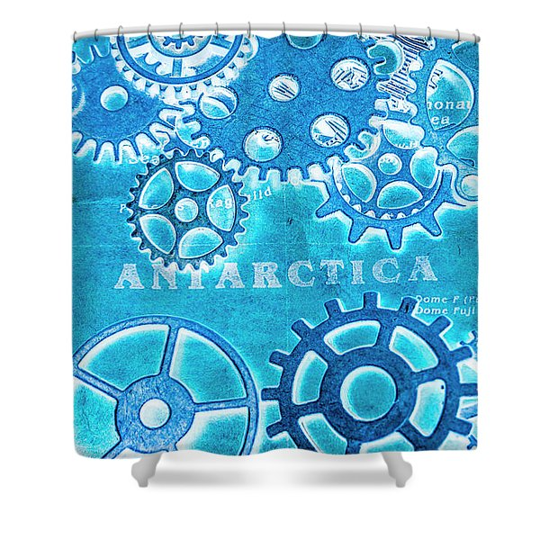 Ancient Antarctic Technology Shower Curtain